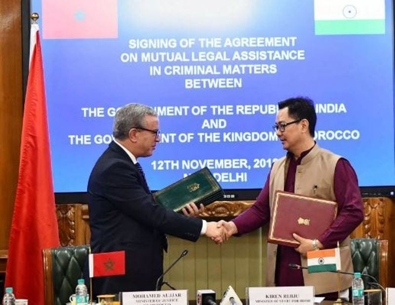 India, Morocco sign agreement in criminal matters