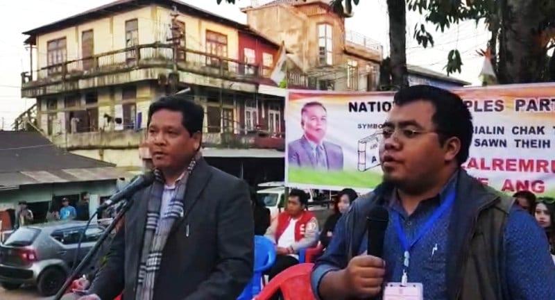 Meghalaya CM Conrad K Sangma address election rallies in Mizoram