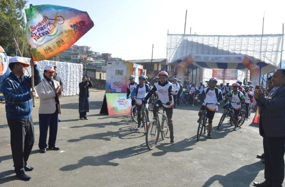Swasth Bharat cycle rally flagged off in Shillong