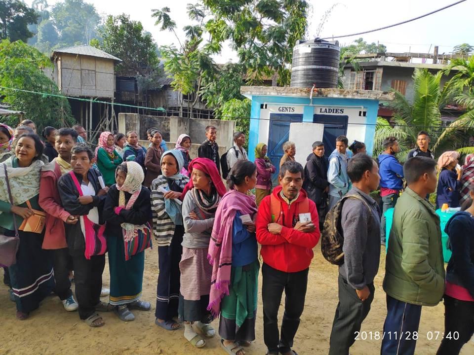 Over 73 percent cast votes in Mizoram