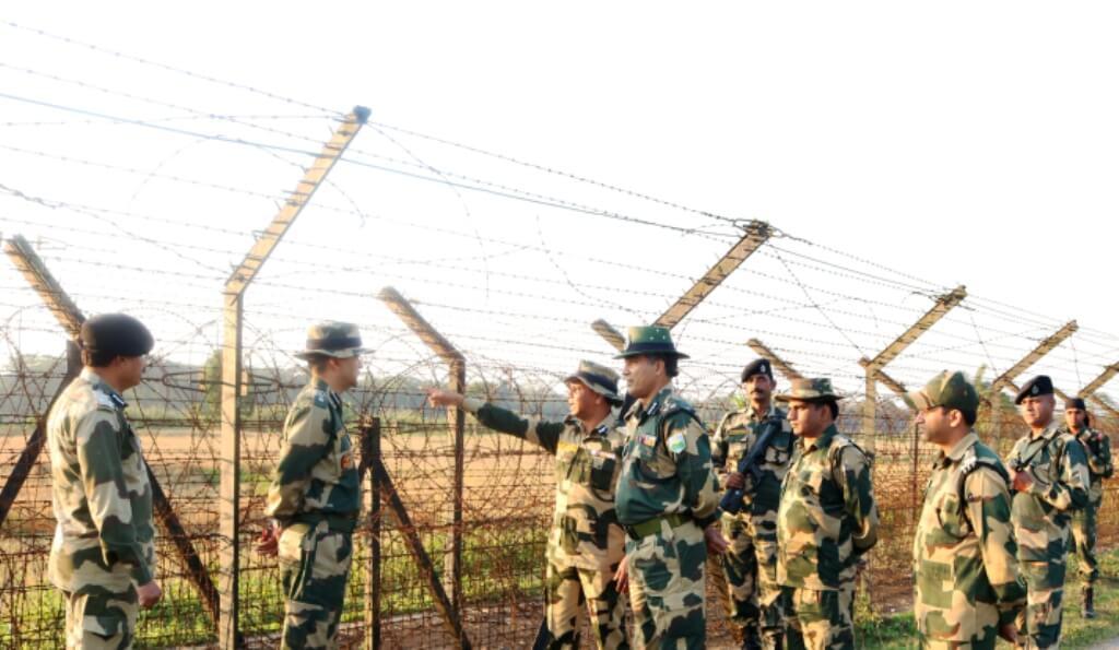 BSF IG reviews security measures along Karimganj border
