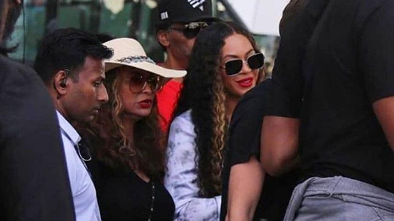Singer Beyonce Arrives in Udaipur