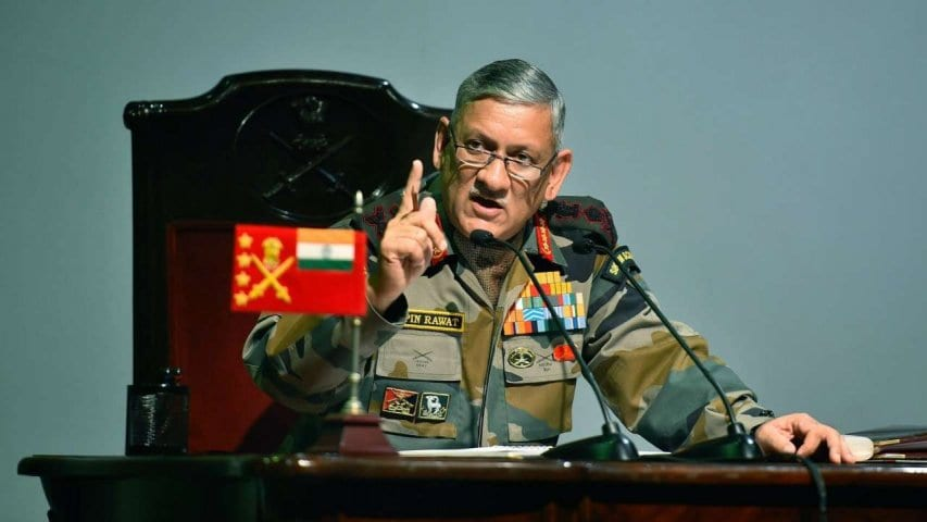 Army Chief warns Pakistan, talks about caution on northern border