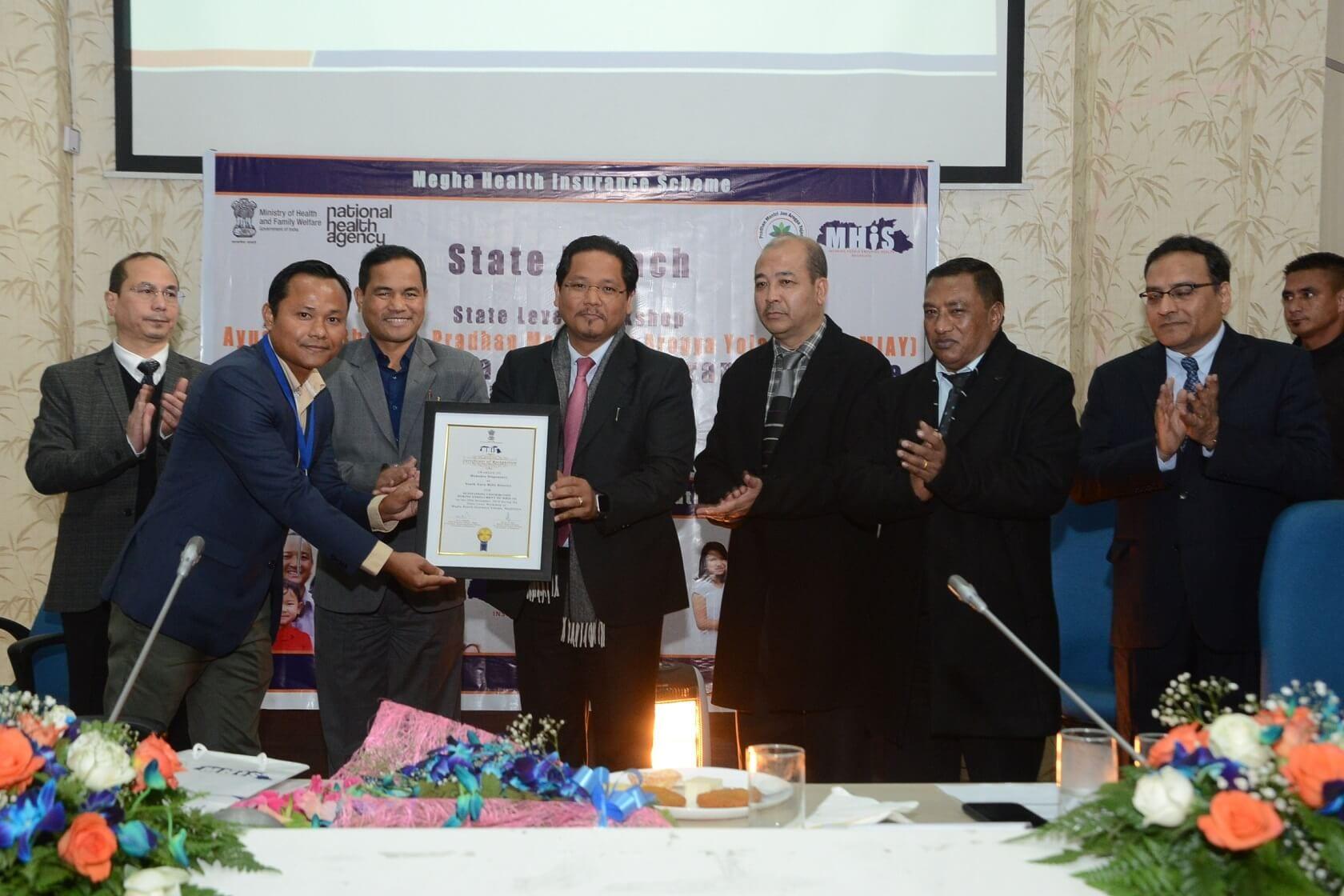 Meghalaya CM Conrad Sangma launches AB-PMJAY