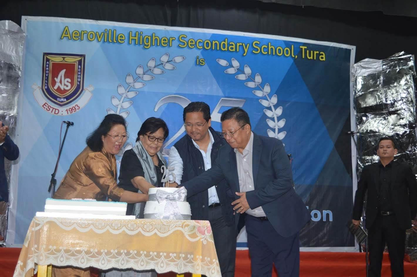 Meghalaya CM Conrad K Sangma attends Aeroville HS School's Silver Jubilee