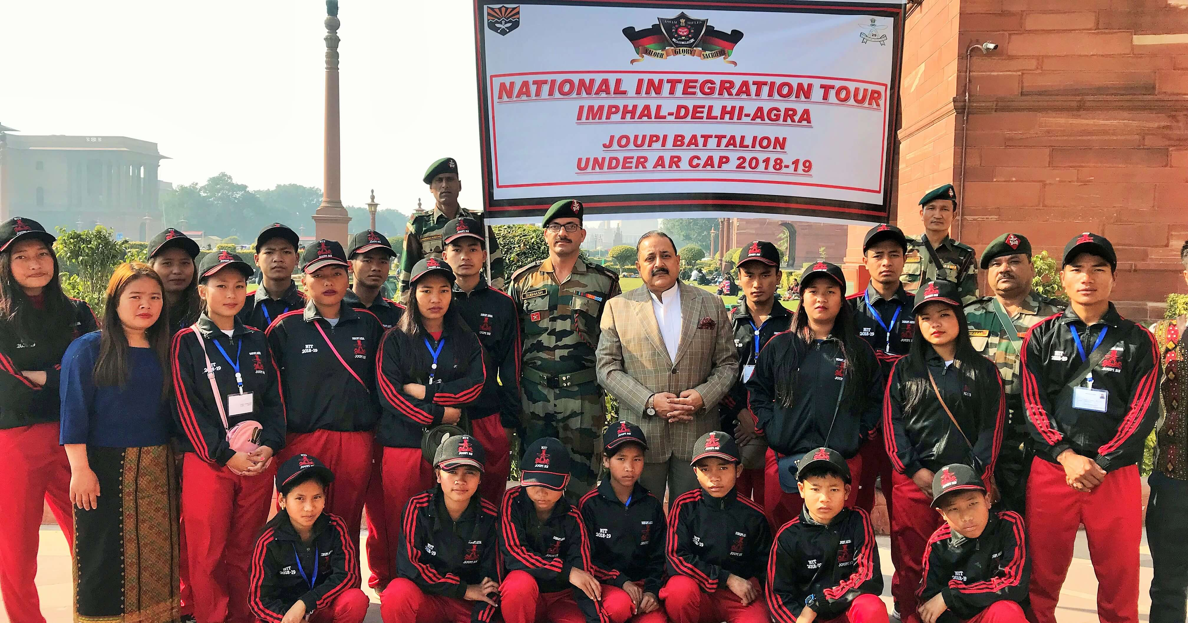 Children from remote area in Manipur call on DoNER Minister