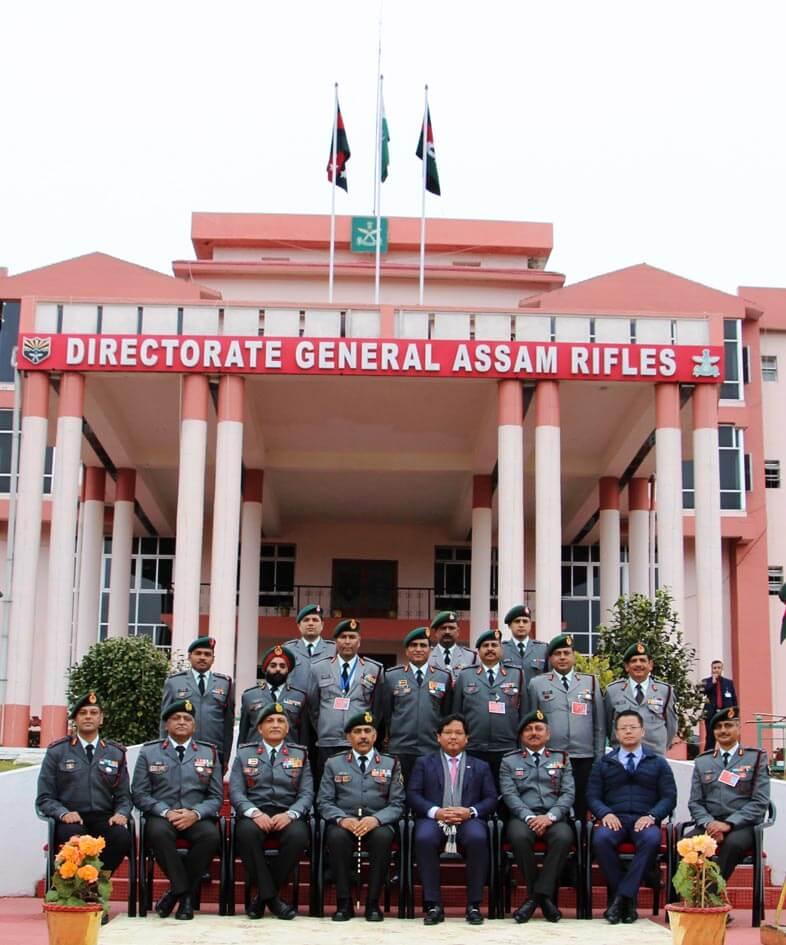 Meghalaya CM Conrad Sangma interacts with Director General Assam Rifles