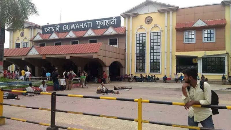 Digital Screens in Guwahati Railway Station