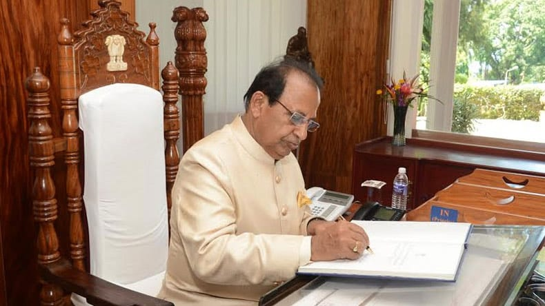 Governor Jagdish Mukhi Interacts With Contingent of National Integration Tour