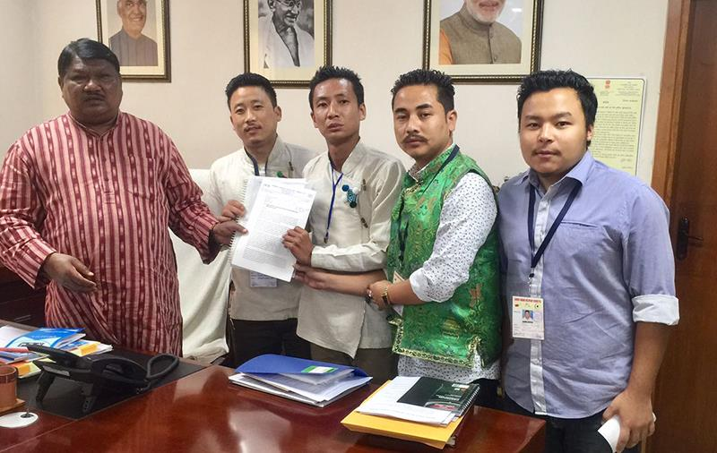 Limboo Tamang Voluntary Committee Calls on Union Minister of Tribal Affairs Jual Oram