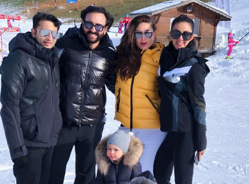 See Pics: Kareena Kapoor Khan With Son Taimur Makes A Style Statement During Switzerland Vacation