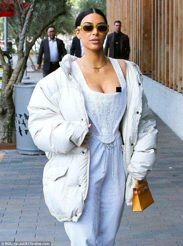 Kim Kardashian Suffers a Wardrobe Mishap