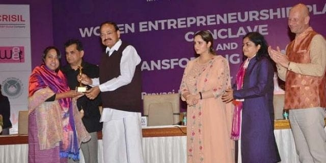 Manipur : Women Entrepreneur Honoured With 'Woman Transforming India Award 2018'
