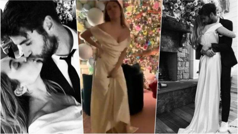 Miley Cyrus Wedding Dress.Miley Cyrus Liam Hemsworth Marriage Watch Her Dance In Her