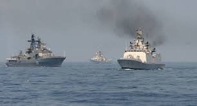 Russian Navy Ships Arrives in India for Maritime Exercise