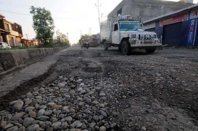 Dilapidated Road Brewing Trouble in City