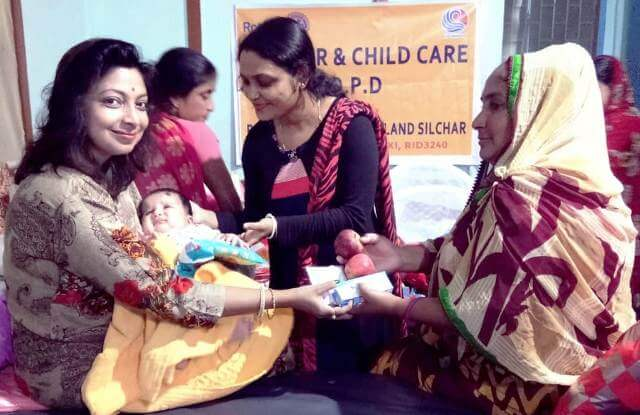 Rotary Club of Green Land Silchar Distributes Baby Products