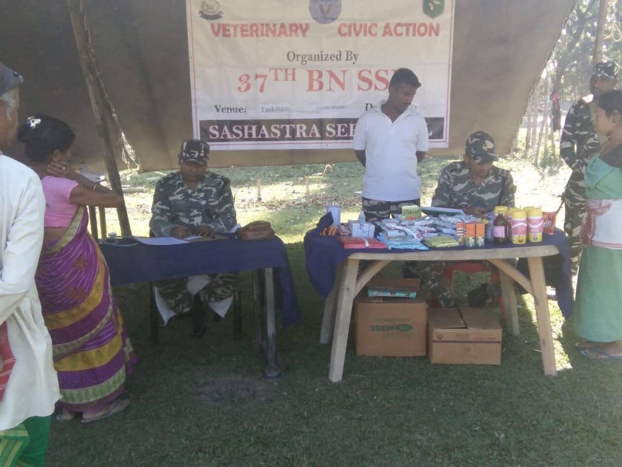 Sashastra Seema Bal organizes Veterinary Civic Action Programme in Tangla