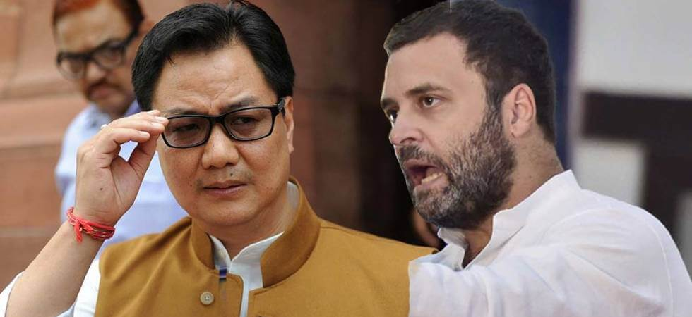 Trapped Meghalaya miners: Rahul blames PM Modi, Kiren Rijiju hits back
