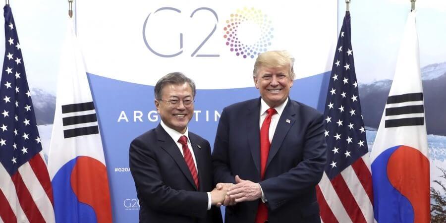 Donald Trump sends message to Kim Jong-un through South Korean President