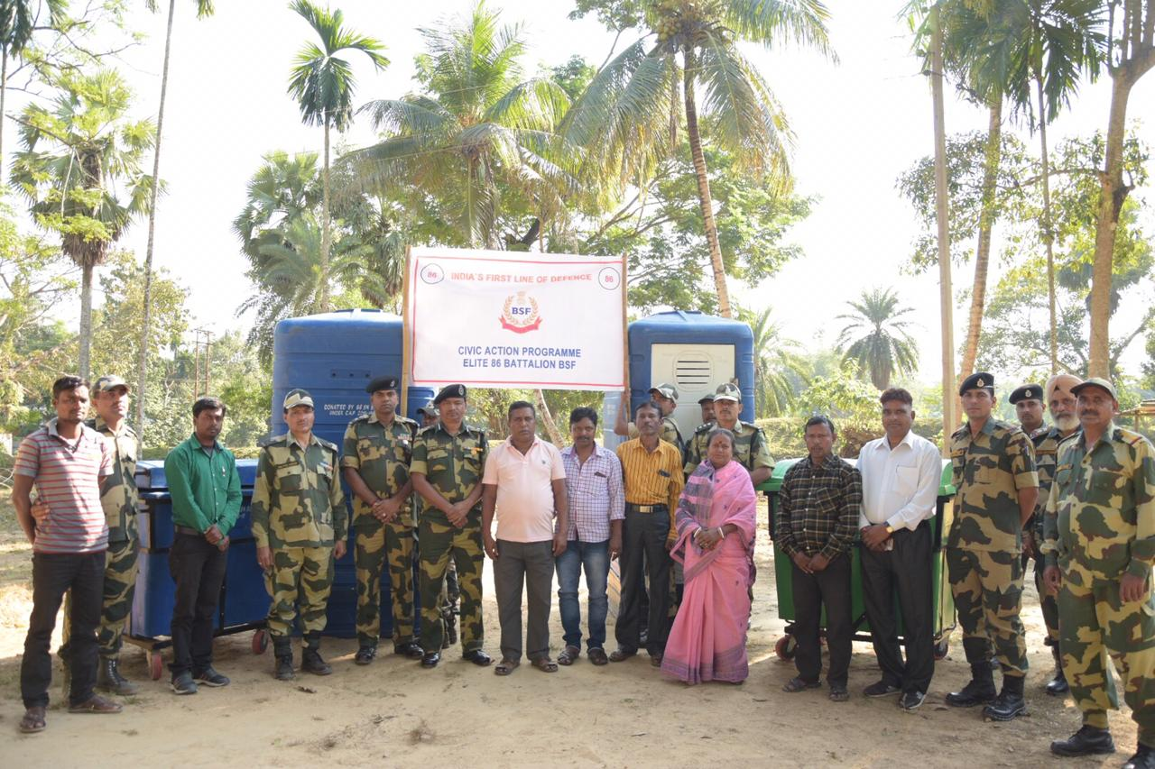 """See Pictures: BSF actively participated in a """"Swachh BharatAbhiyan"""" in Tripura"""