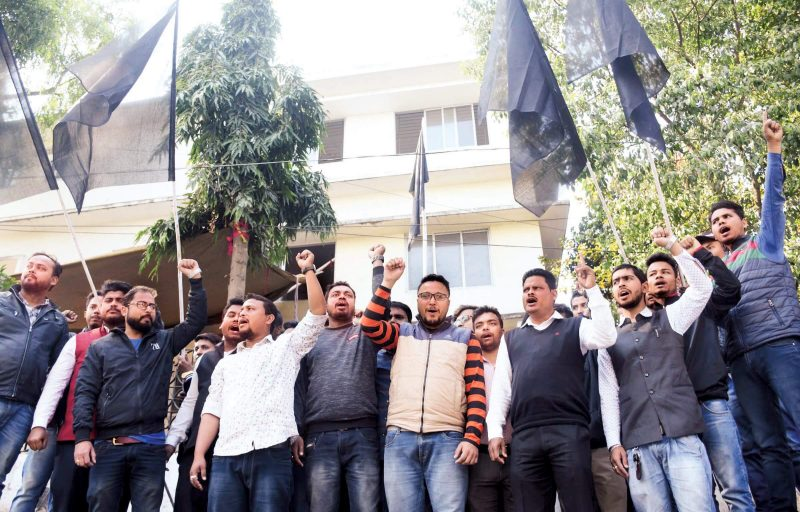 NESO Observes Black Day Against Tripura Government's Anti-Indigenous Stand