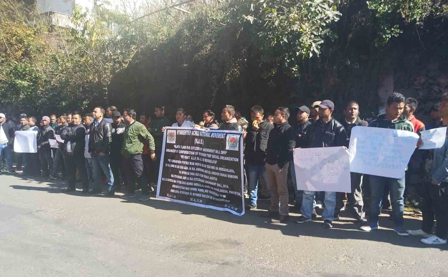 CoHSO protest in front of BJP office in Shillong
