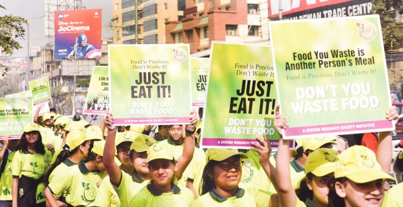 Don't You Waste Food (DYWF) Has Conducted A Walk To Reclaim The Future
