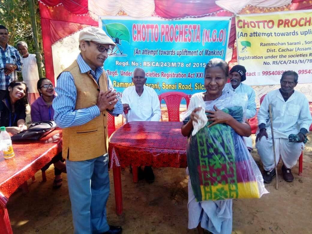 Chotto Prochesta NGO distributes blankets in Silchar