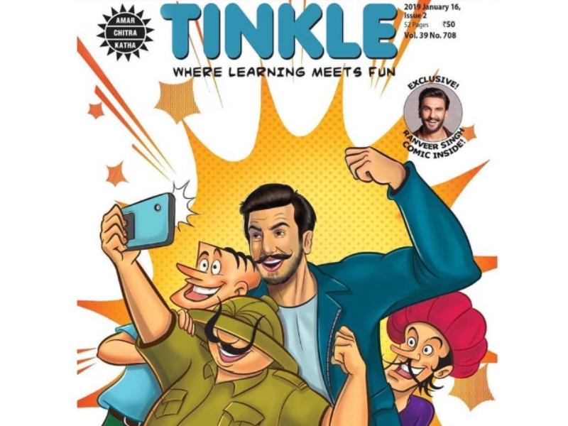 Ranveer Singh Grabs A Place With Supandi And Shikari Sambhu On Tinkle Comics Cover