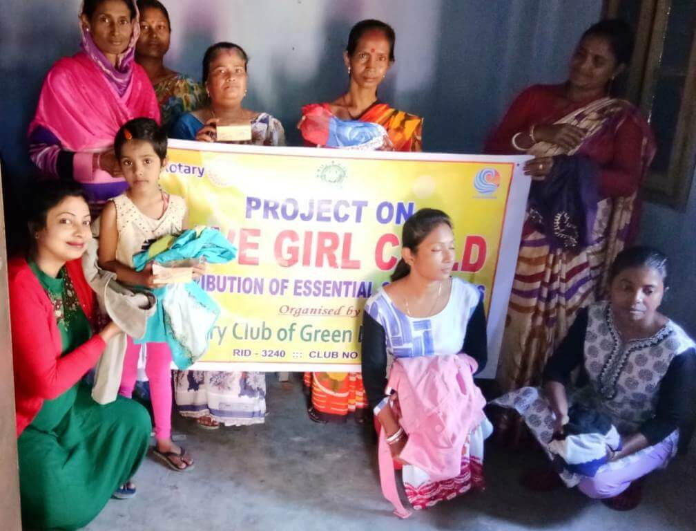 Warm clothes distributed by Rotary Club of Green Land Silchar