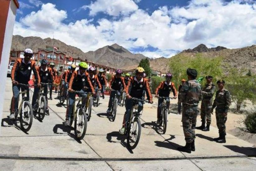 Army bicycle expedition flagged off from Tezu