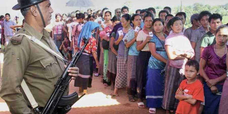 Bru refugees seek polling station in relief camps