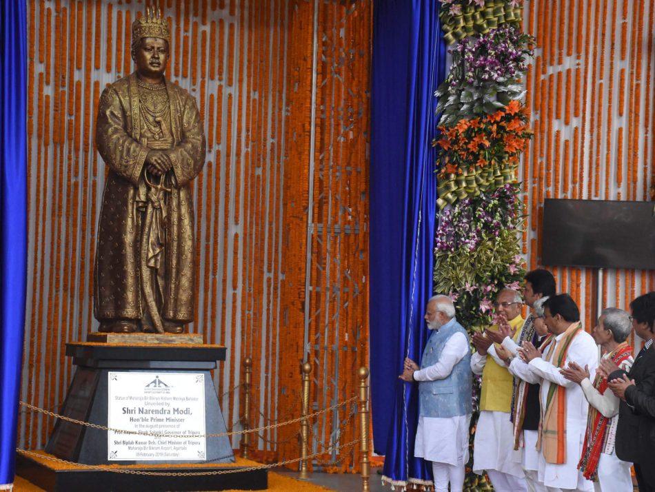 Statue of Tripura's last Maharaja unveiled