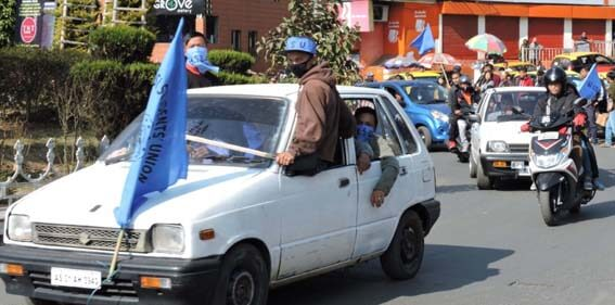 Khasi Students Union (KSU) Takes Out 'Victory' Rally