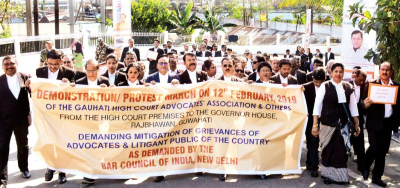 All Bar Associations Stage Nationwide Protest From High Court To Raj Bhawan