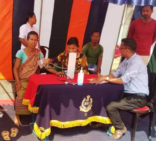BSF organizes free medical camp for border area villagers in Shillong