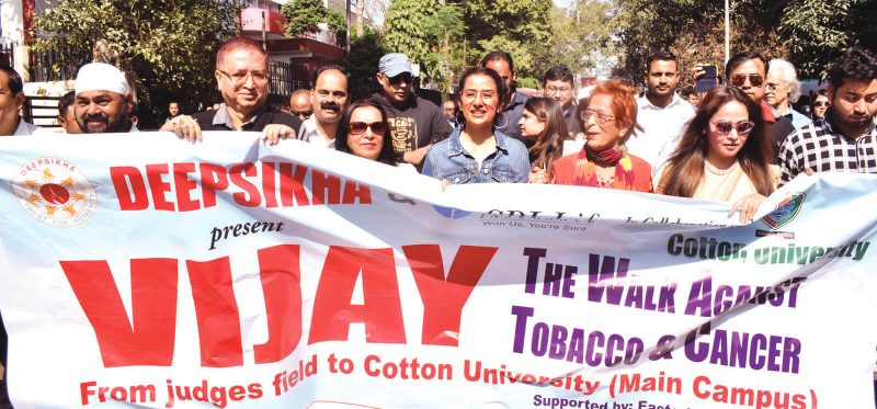 Manisha Koirala Leads Walk On Awareness Against Cancer