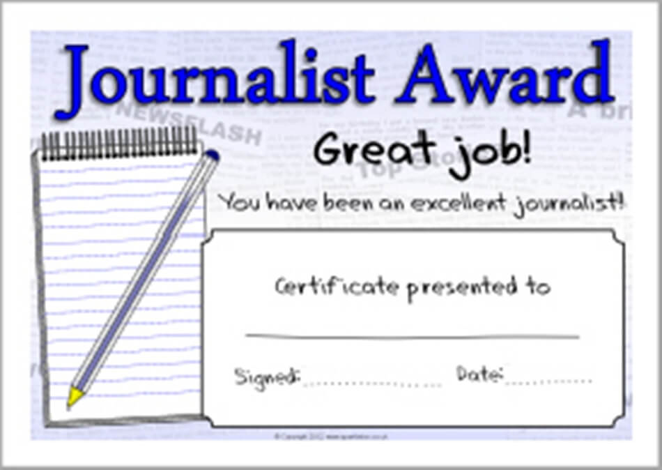 Journalist Award recipients announced, to be presented on March 12