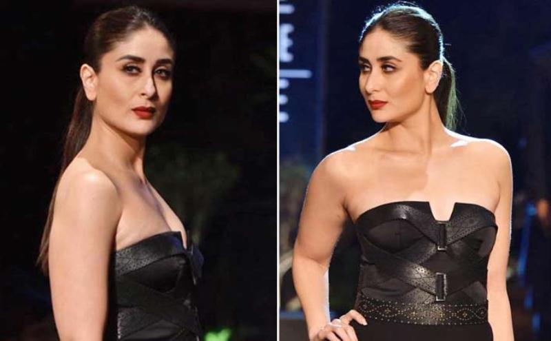 Watch Pics - Kareena Kapoor Khan Stuns In Lakme Fashion Week As She Walks The Ramp In Black