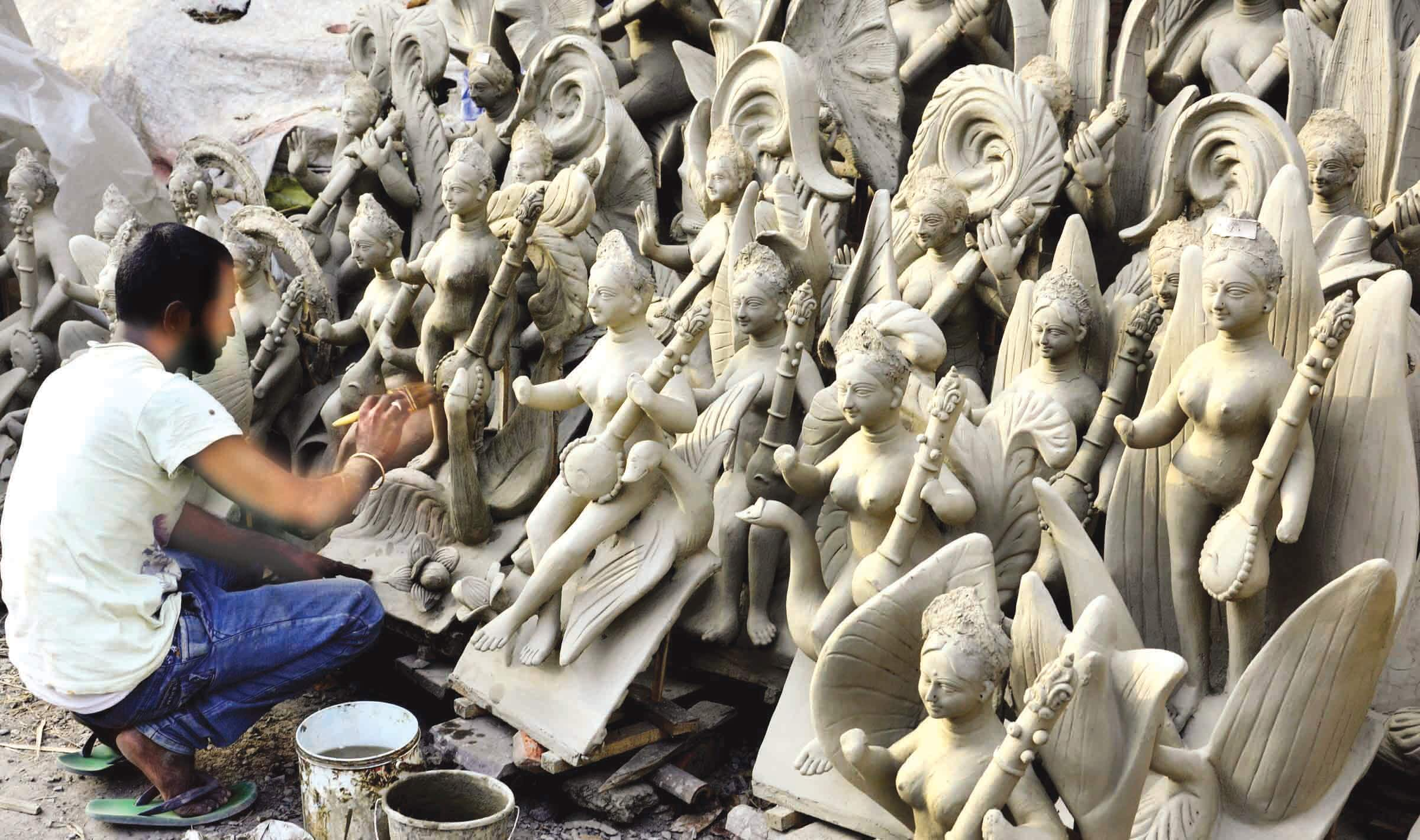 Five days to go for Saraswati Puja, idol makers get no order