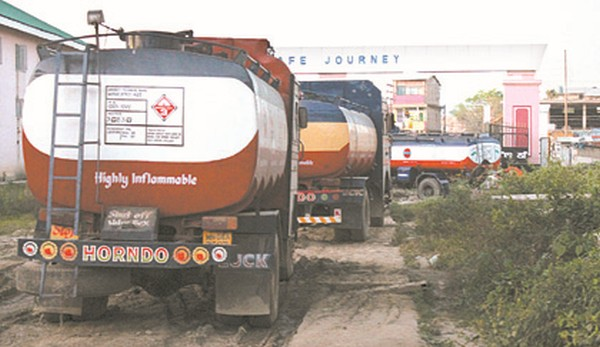 Crude oil tanker seized by Basistha Police