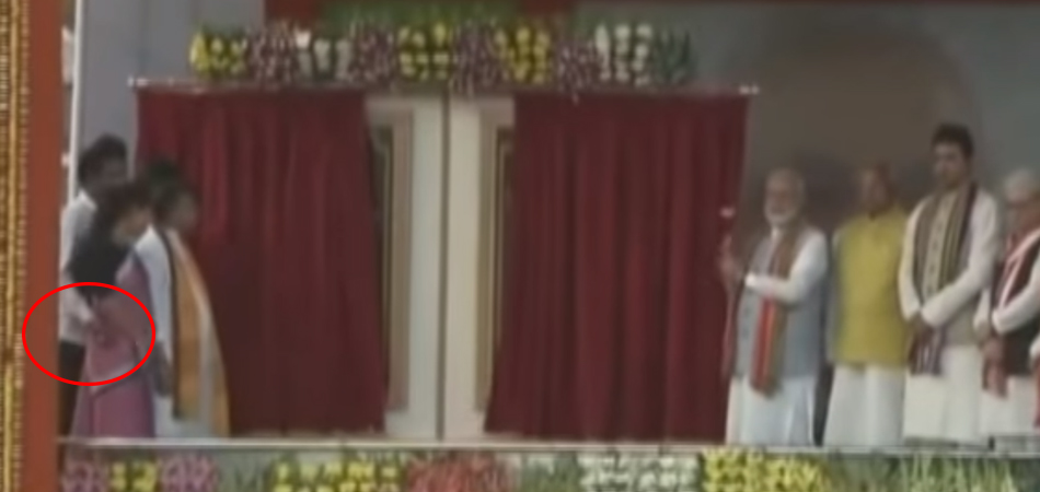 Tripura Ministers video of groping female minister on stage went viral in social media