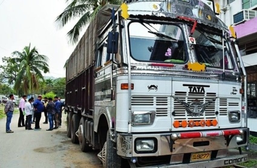 Urea-laden Truck seized while fleeing to Aizwal
