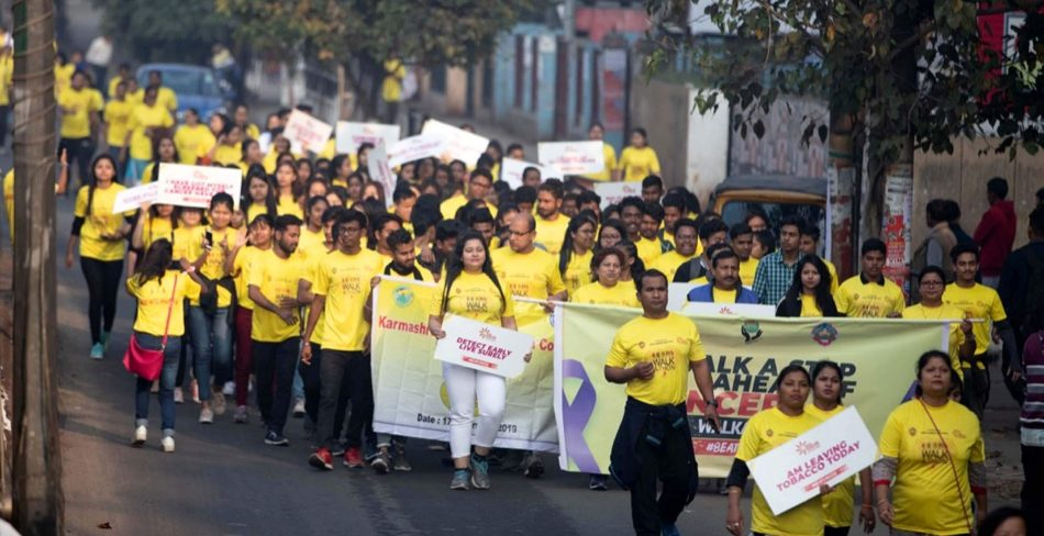 Cancer walkathon taken out in city by State Cancer Institute