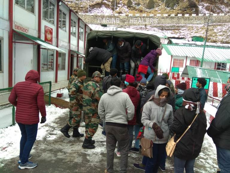 Over 300 stranded tourists rescued by Indian Army in East Sikkim