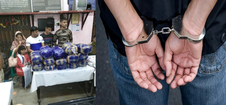 Suspected Ganja Recovered from Agartala Anand Vihar Rajdhani Express at Guwahati Railway Station
