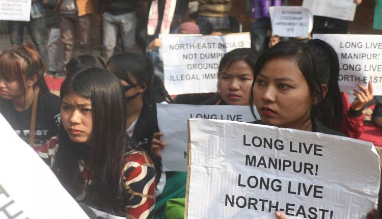 Manipur women vendors staged 12-hour sit-in-demonstration
