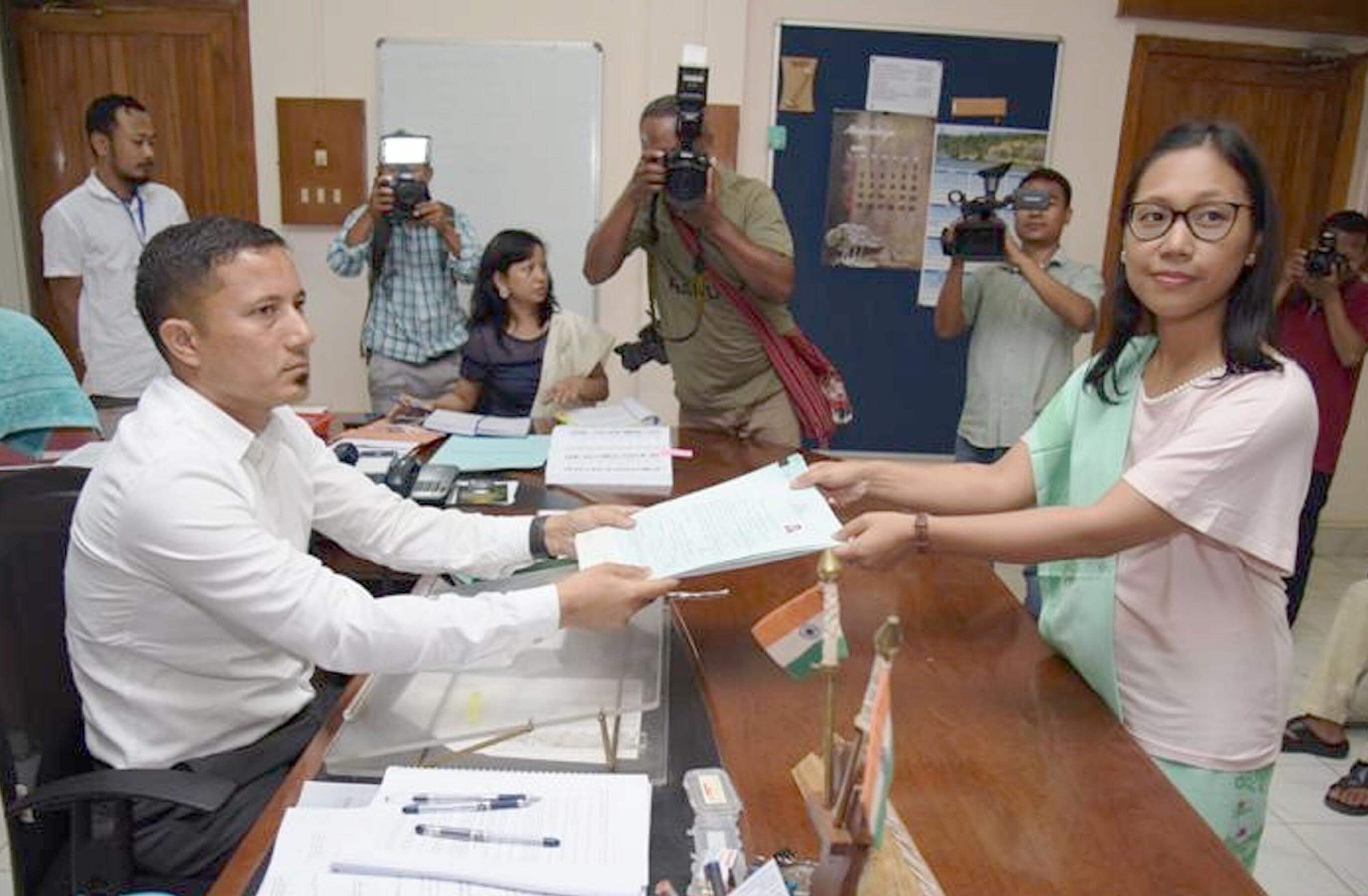 NPP Candidate Agatha Sangma files nomination for Tura Lok Sabha seat