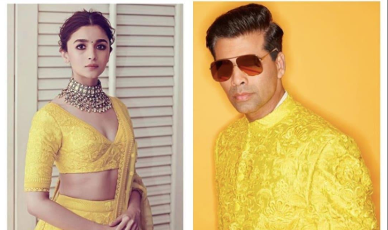Cut From The Same Cloth, Karan Johar Takes A Dig At Alia Bhatts And His Matching Outfit